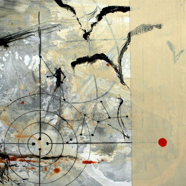Allison Stewart  Haiku Gulf #16  mixed media on panel  20 x 20 in