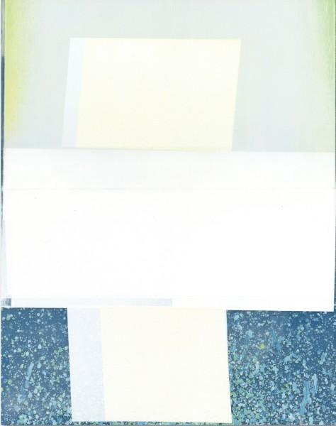 Jeffrey Cortland Jones  Coping (Vert), 2016  enamel on acrylic panel  14 x 11 in.