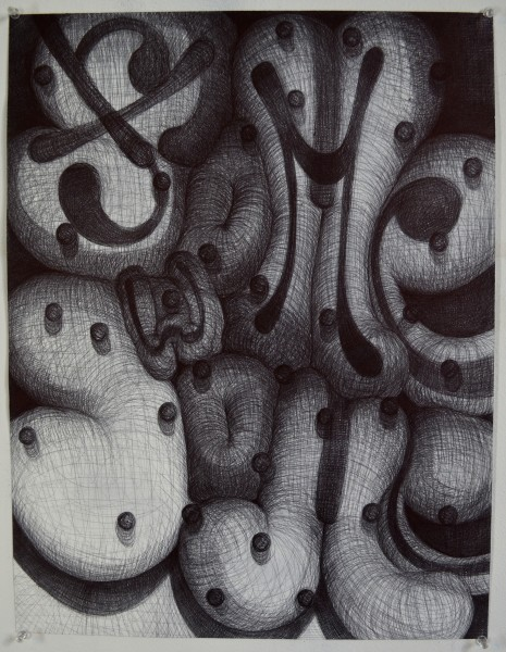 Thomas McArdle  Some, some, 2017  ballpoint pen on paper  22 x 17 in.