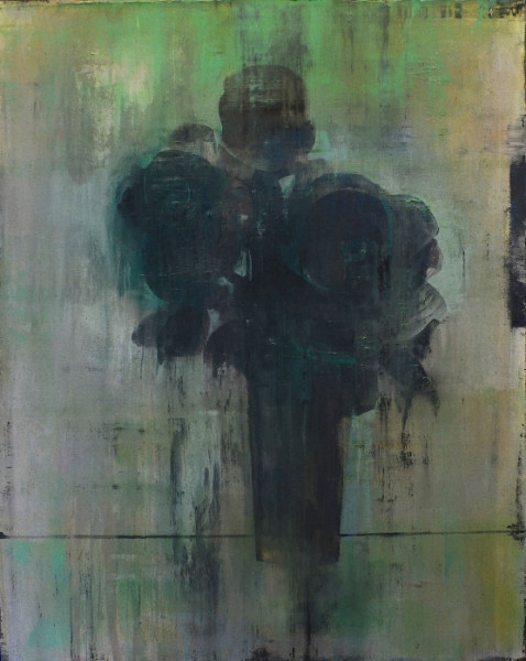 Daniel Brice  PP-Green/Black, 2018  oil and acrylic on canvas over panel  60 x 48 in.