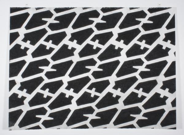 Noah Loesberg  Tire Tread #3, 2011  charcoal on paper  22 x 30 in.