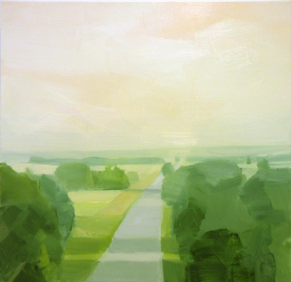 Sara MacCulloch  Road, 2016  oil on canvas  20 x 20 in.