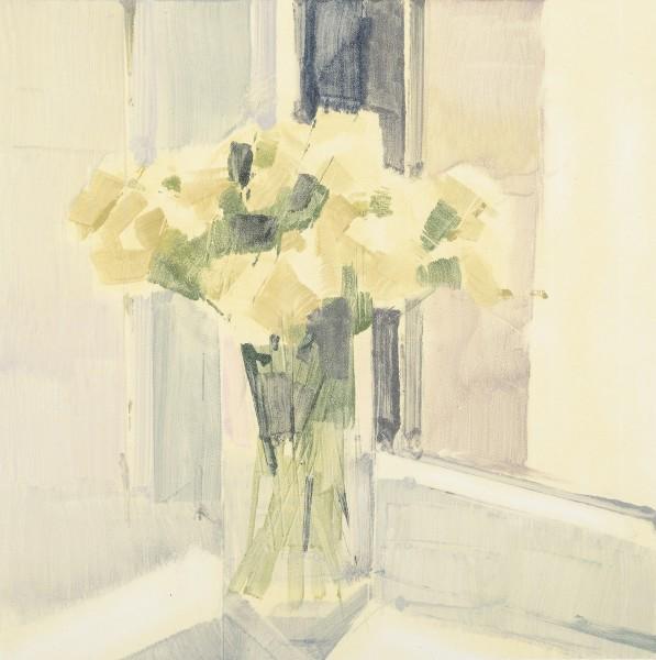 Lisa Breslow  Flowers 9, 2014  monotype  12 x 12 in. paper size 22 x 22 in.