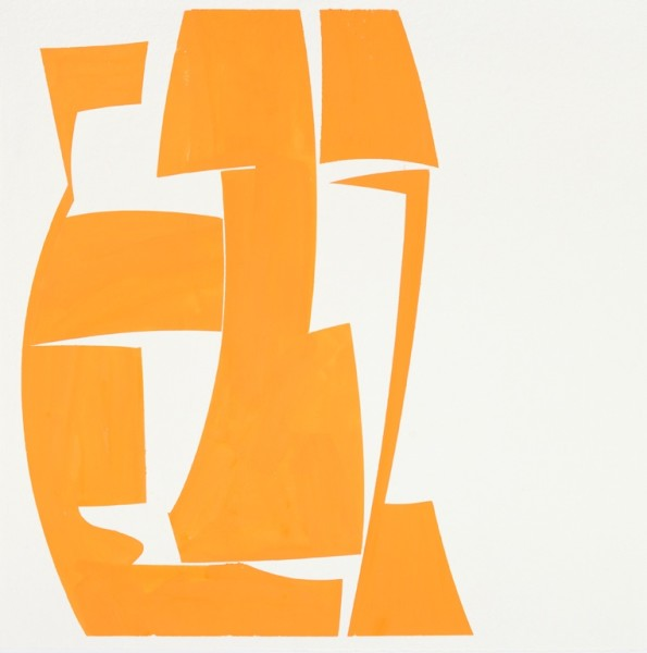 Joanne Freeman  Covers 24 Orange, 2015  gouache on Khadi handmade paper  24 x 24 in.