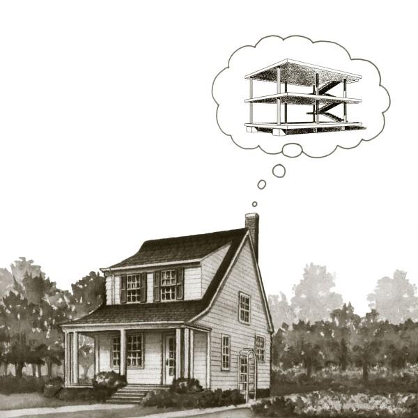 Peter Dudek  House Dreaming, 2015  inkjet on metal  17 x 17 in.