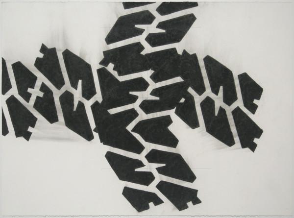 Noah Loesberg  Tire Tread #4, 2011  charcoal on paper  22 x 30 in.