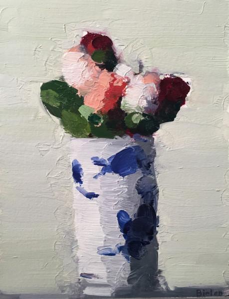 Stanley Bielen, Roses in Tumbler, 2012