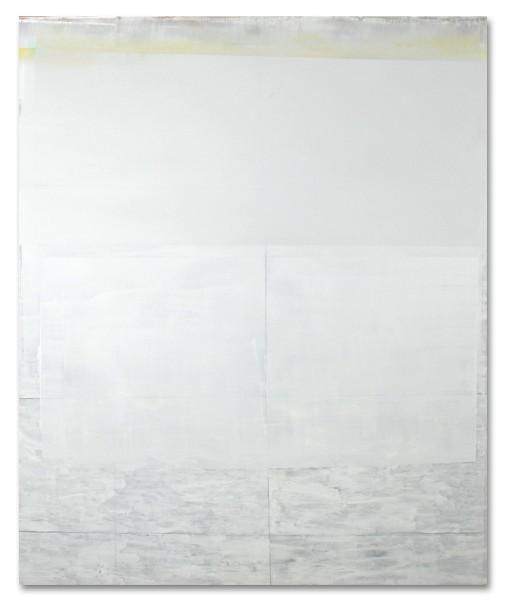 Jeffrey Cortland Jones  Fields (Figure), 2014  enamel, gesso, latex, and graphite on acrylic panel  36 x 30 in.
