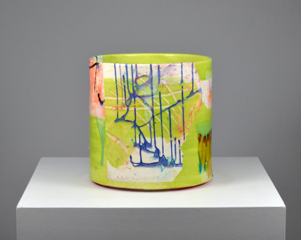 Lauren Mabry, Cylinder (Bright Green), 2016