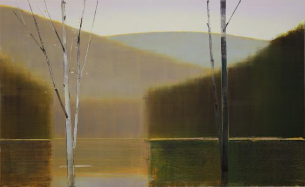 Stephen Pentak  2017, II.II, 2017  oil on birch panel  32 x 52 in.