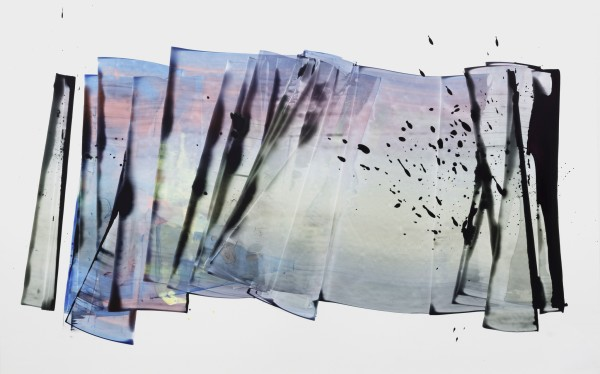 Sarah Irvin  Splice, 2016  ink on yupo  26 x 40 in.