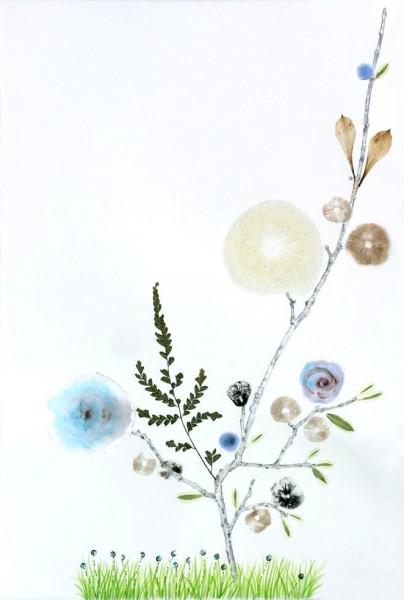 Marilla Palmer, Grass with Blue Dots, 2013