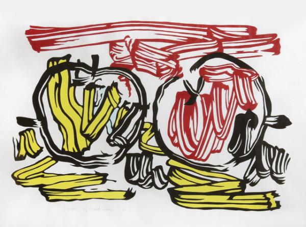 Roy Lichtenstein, Red Apple and Yellow Apple , 1983