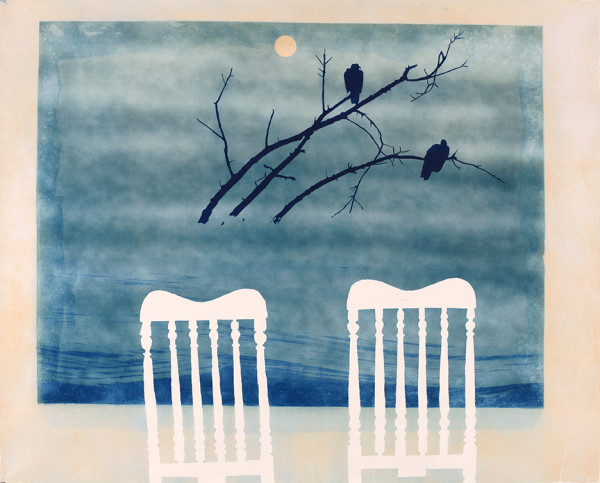 Casey Roberts, Unfinished Painting (with two chairs)