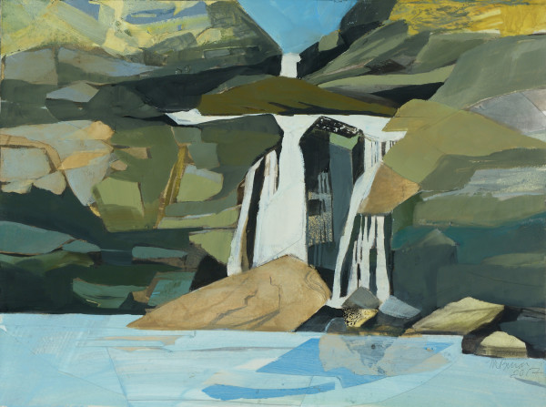 Mariella Bisson, Chasing Waterfalls, Drop Onto the Fallen Rock (unframed)