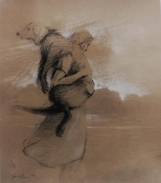 Paul Sattler, Girl and Dog IV
