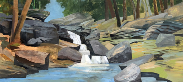 Mariella Bisson, Orchard Creek Falls Panorama