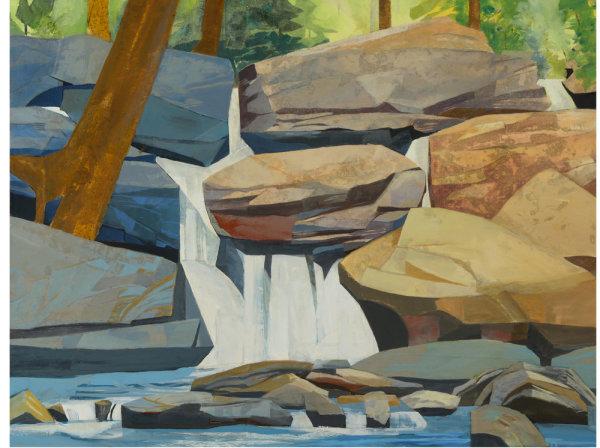Mariella Bisson, Best Days, Brightest Days, Rocks and Waterfall