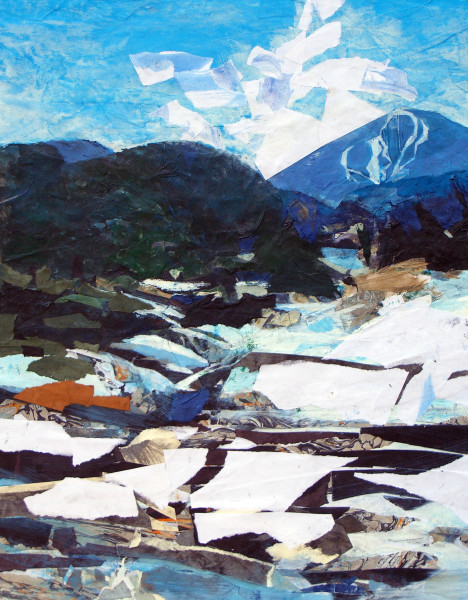 Mariella Bisson, Snow, River, Mountain (unframed)