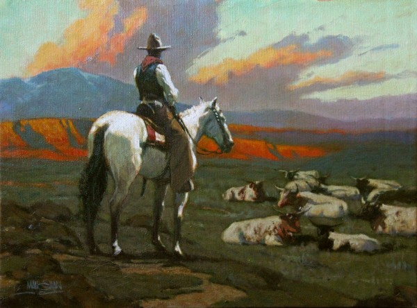 William L. Maughan, GUARDING THE HERD