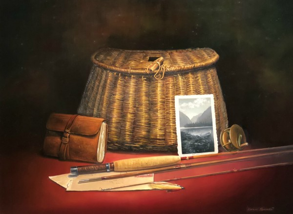 Adriano Manocchia, Fly Rod Reel and Fishing Creel
