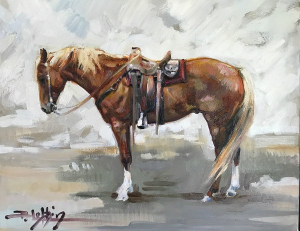 Beth Loftin, RED HORSE ON A GRAY DAY