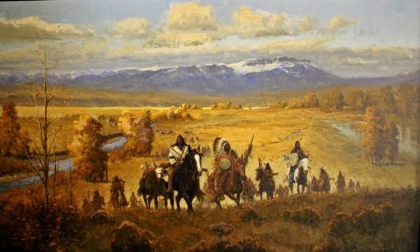 John DeMott, Blackfeet in Tita Medicine River Valley