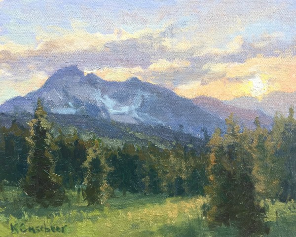 Kim Casebeer, FAN MOUNTAIN, EVENING