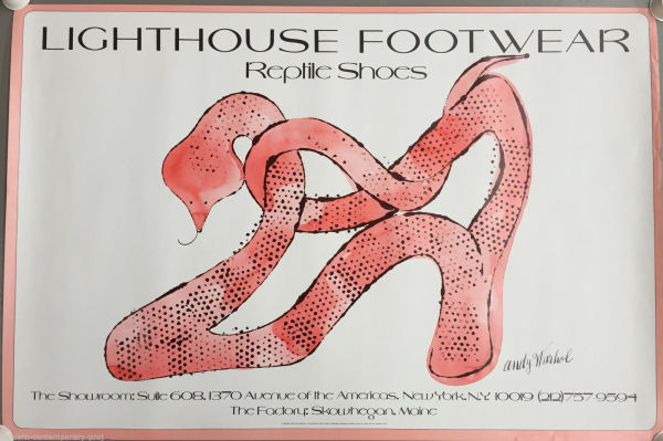 Andy Warhol, Reptile Shoes poster, 1979