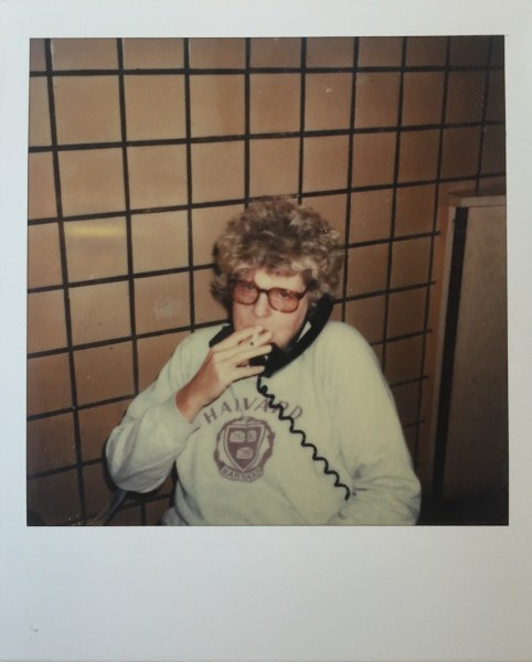 Andy Warhol, Unique polaroid portrait of Birgid Polk aka Brigid Berlin