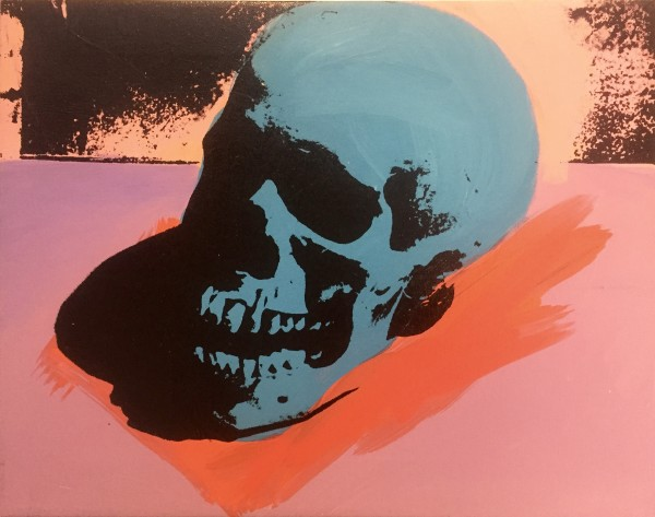 Charles Lutz, Skull painting, 2007