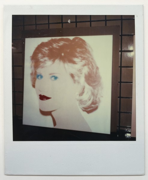 Andy Warhol, Unique polaroid of Jane Fonda painting vers. 2