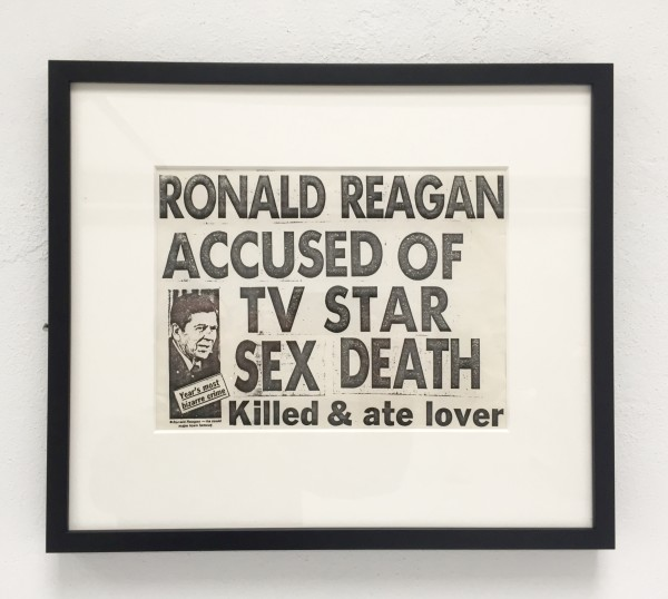 """Untitled"" 1980. Cut-up New York Post headline, New York , 1980"