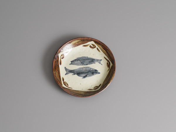 Bernard Leach, Plate with fish