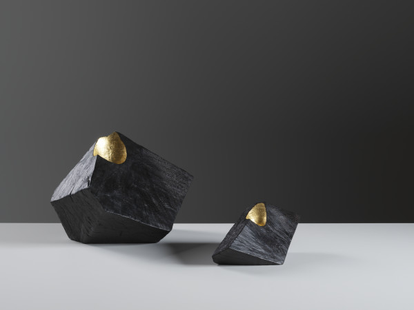 Jim Partridge, Small Angular Vessel with Gold, 2018