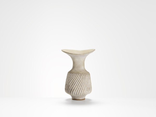 Lucie Rie - vase with flared neck, c1984