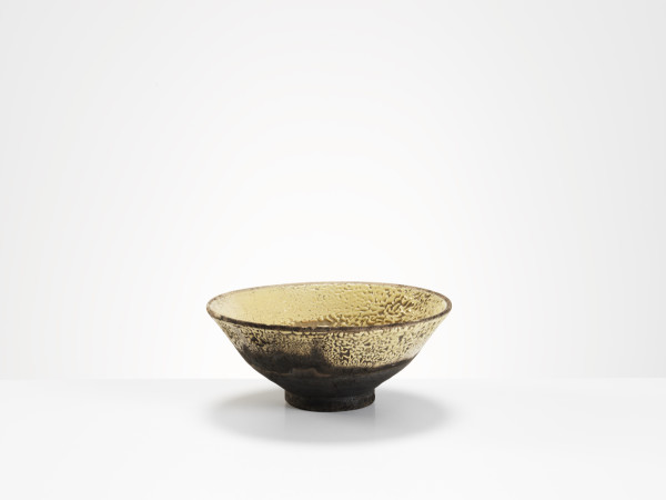 Inger Rokkjaer - Cream/Yellow Raku Bowl, c1990
