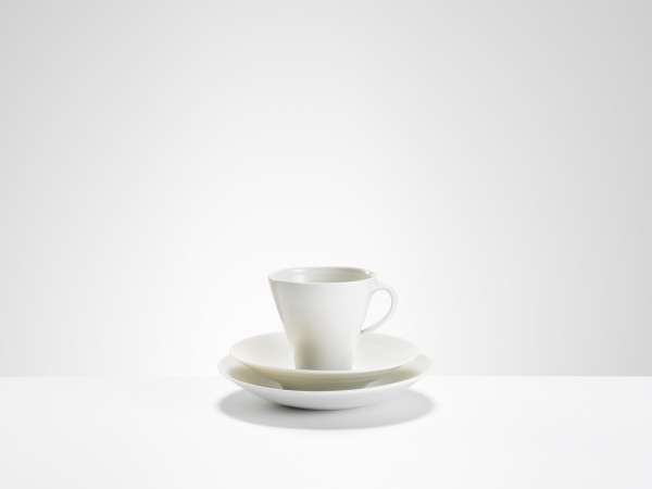 Joanna Constantinidis, Tall Cup, Saucer and Side Plate