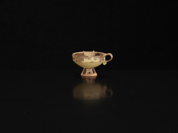 Ian Godfrey, High Footed Cup with House, C1970s