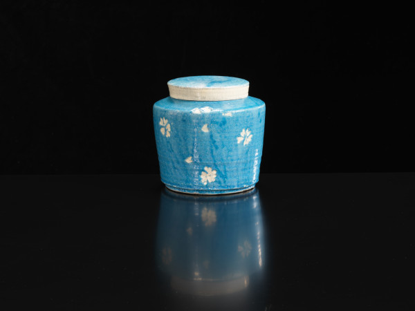 Inger Rokkjaer, Blue Lidded Pot, 2004