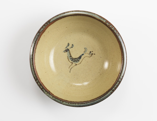 Bernard Leach, Bowl with Leaping Deer