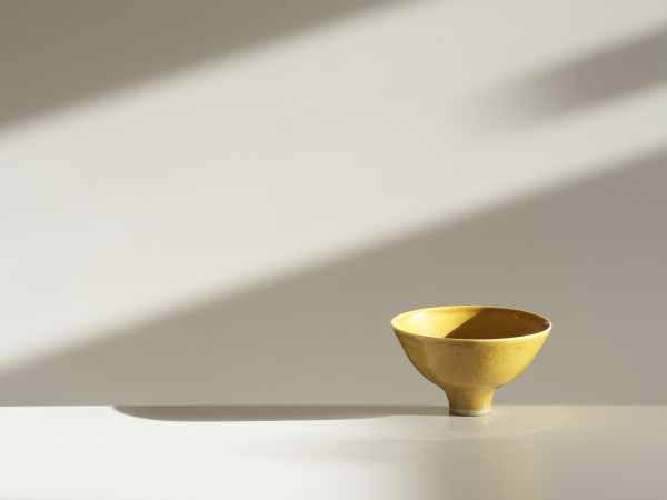 Lucie Rie - Yellow Bowl, c1980s