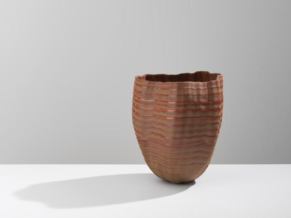 Daniel Fisher, Stoneware, Raw Glazed Vessel, 2018