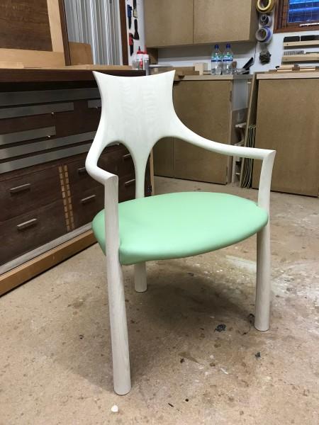 John Makepeace, 'Miro' Washed Oak Chair, 2018