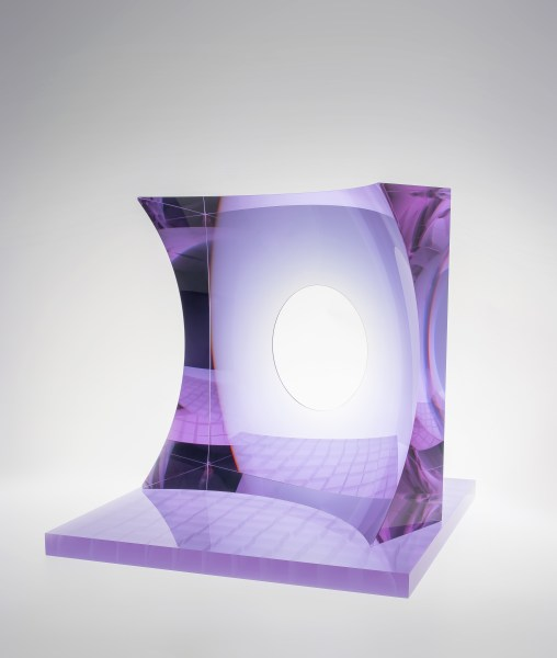 Oliver Lesso, Glass Architecture, Violet, 2018