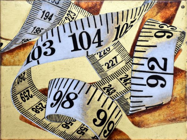 Tape Measure on Gold