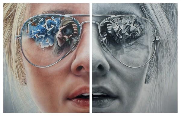 Simon Hennessey Urban Chic, 2012 Oil over acrylic on canvas 105 x 162 cm framed 100 x 150 cm