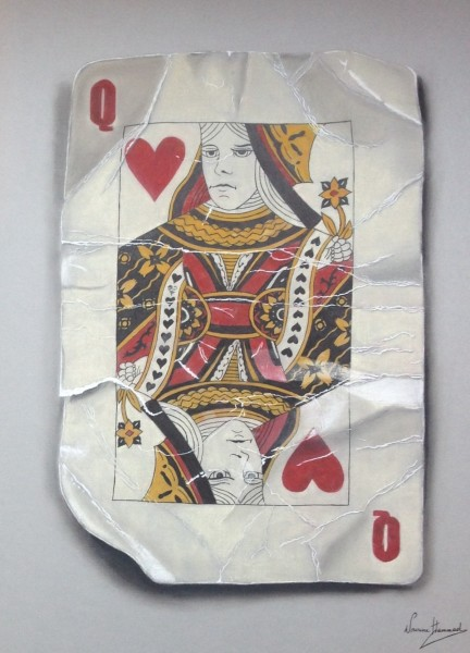 Nourine Hammad, Playing Cards (Queen)
