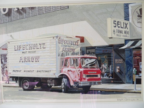 Ralph Goings Arrow truck Watercolour 23 x 30.5 cm