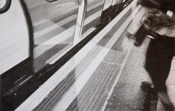 Roger Watt  Going Underground II  Graphite on Bristol board  24 x 38 cm 47 x 61 cm (framed)